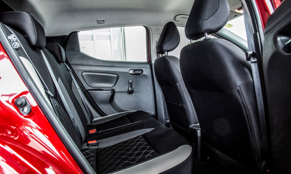 Rear space is tight for adults.