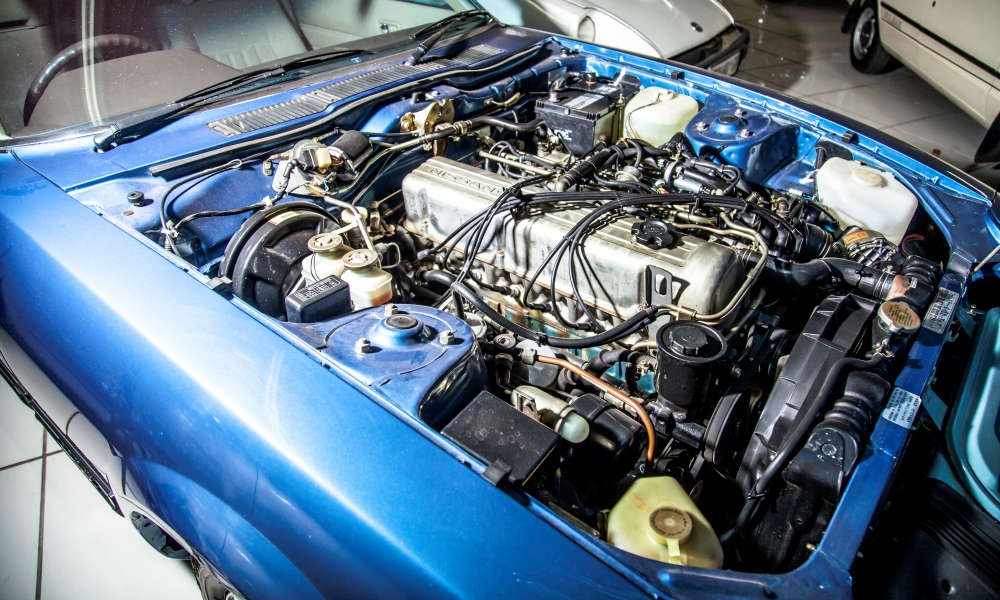 2,8-litre, inline-six engine of a 1981 Nissan 280ZX.