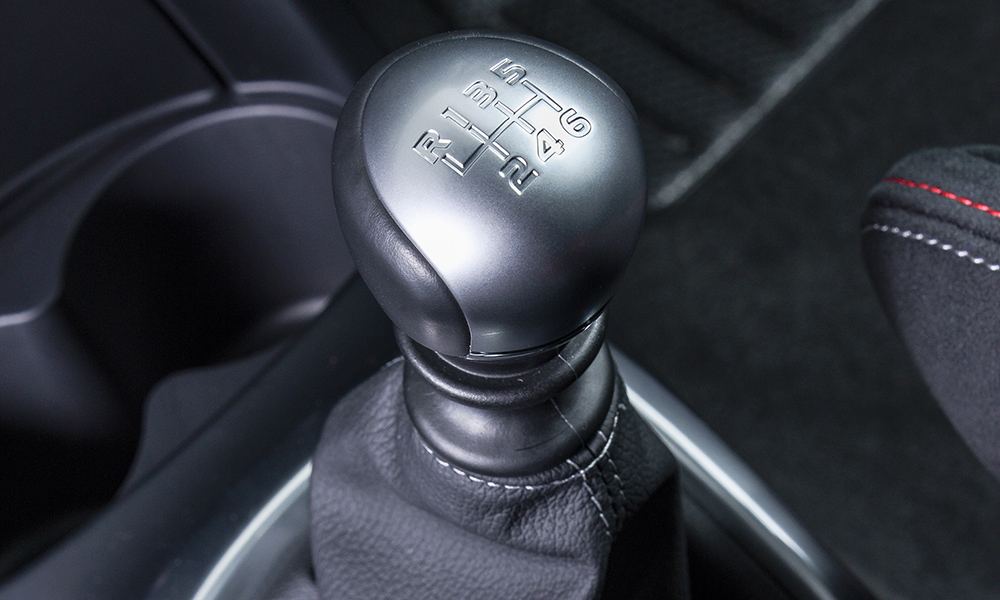 The six-speed manual gearbox is the highlight of the Yaris GRMN package.