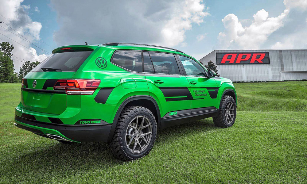 The Atlas has been handed more power and a hiked suspension system.
