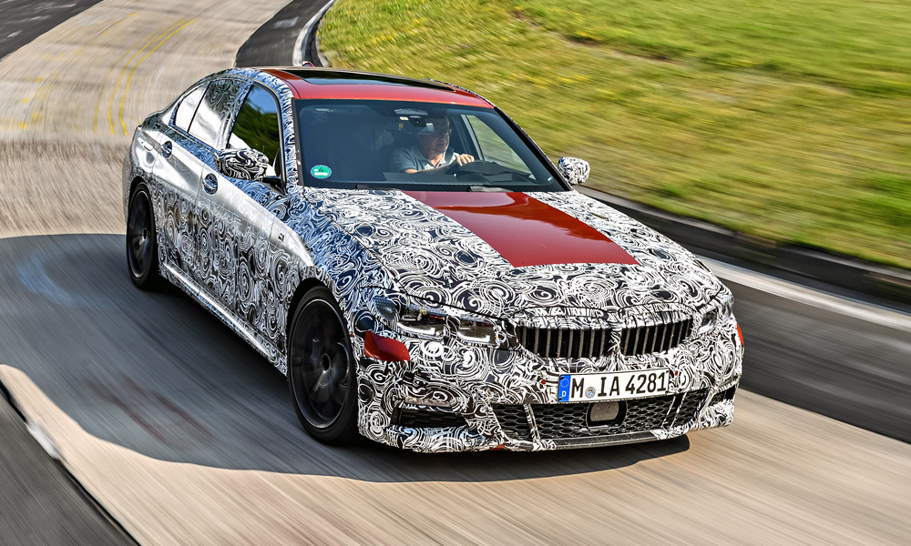 BMW has been testing its new 3 Series sedan at the Nürburgring Nordschleife.