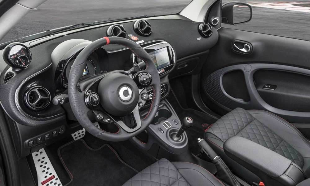 Carbon elements and a reupholstered steering wheel included.