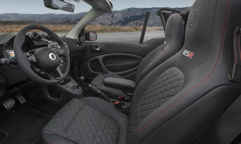 Note the quilted leather seats.