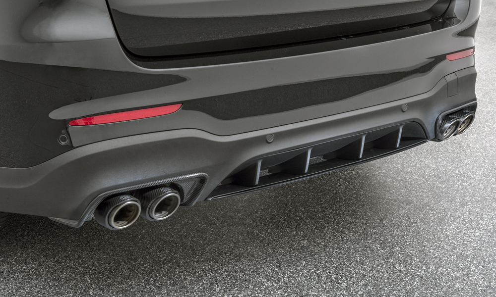 A new exhaust system is also part of the package, complete with carbon tips.