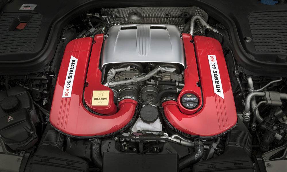 Brabus has hiked the V8's peak power output to 441 kW.