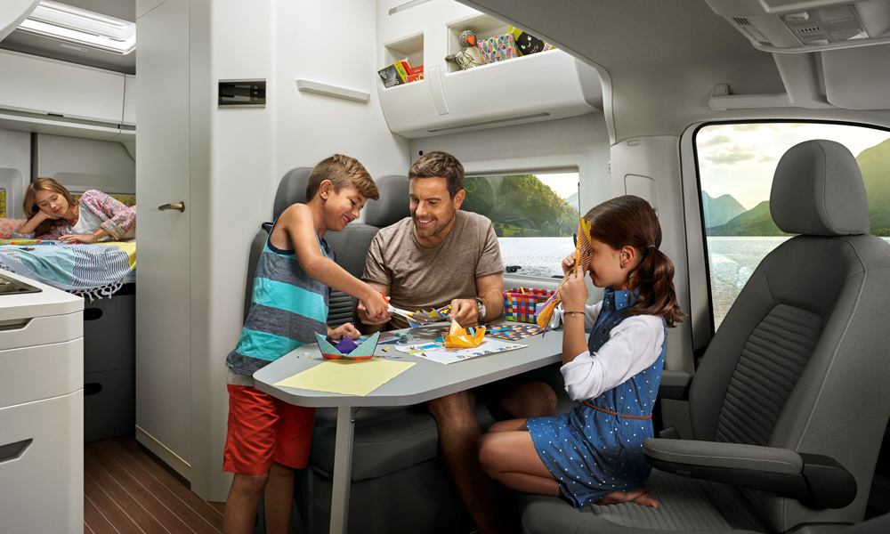 VW says there is ample room in the living area.