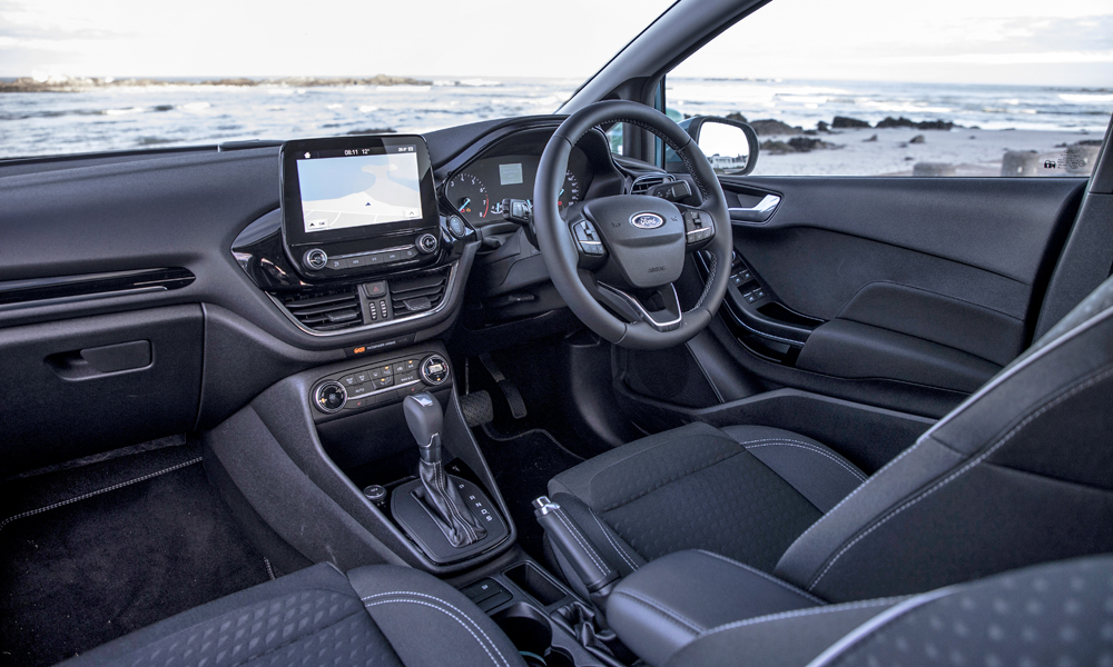 The Ford's interior is classy and easy to use.