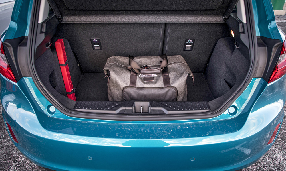 The Fiesta's boot is slightly larger and its lip lower.