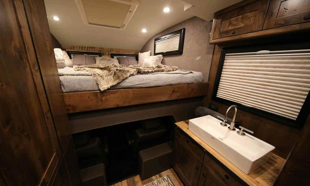 The cabin is not short on luxury.