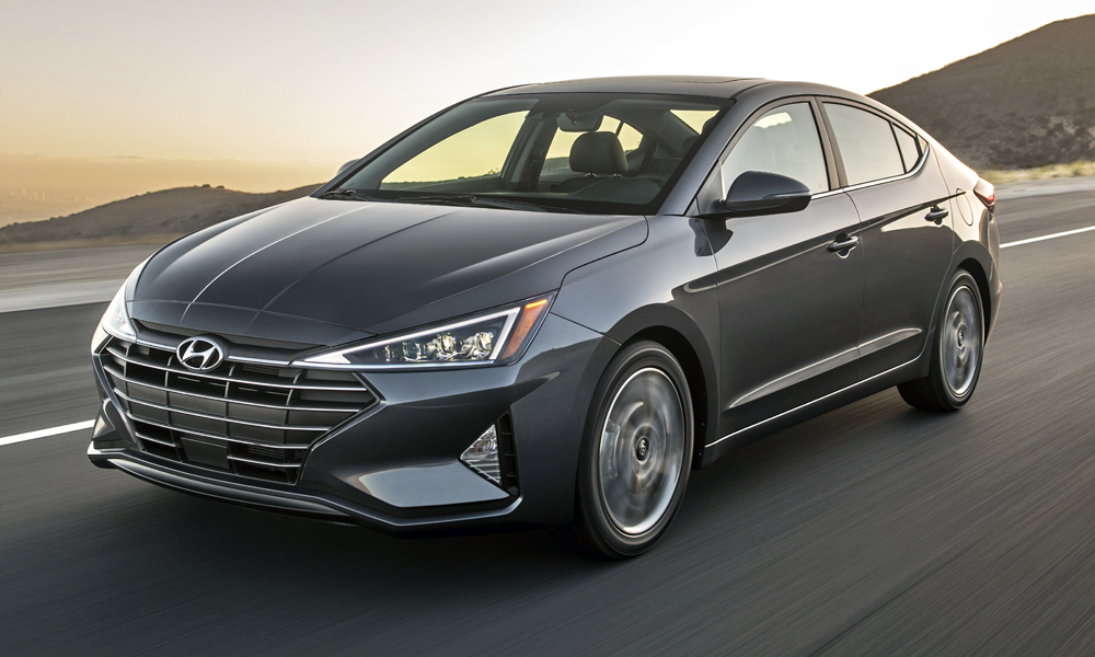 The facelifted Hyundai Elantra has been revealed in the US.