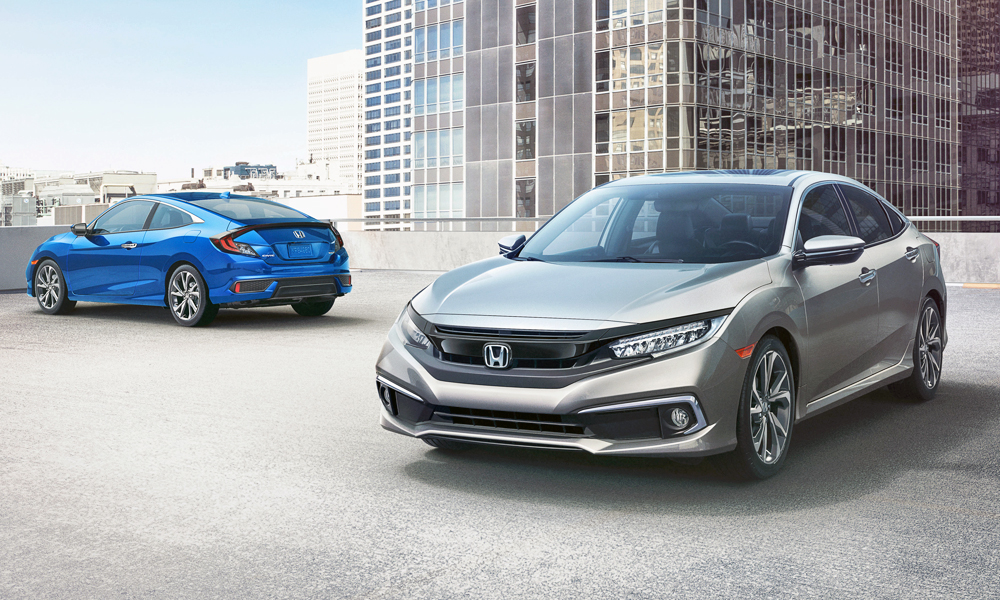 The Honda Civic sedan and coupé have been updated.