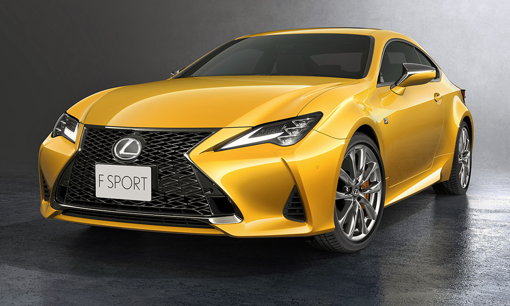 The facelifted Lexus RC coupé has been revealed.