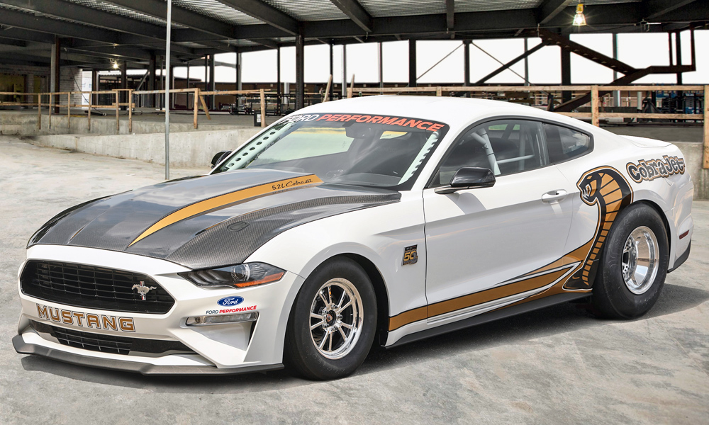 Ford has revealed its new Mustang Cobra Jet drag car.