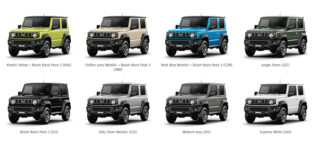New Suzuki Jimny To Launch In Sa In These Eight Colours