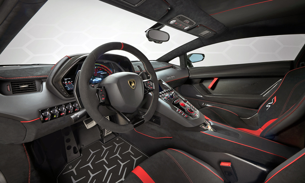 The Interior Can Be Customised According To The Buyeru0027s Preferences. The Lamborghini  Aventador ...
