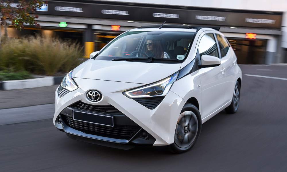 The Toyota Aygo (X-Cite model pictured) now features a fresh exterior look.