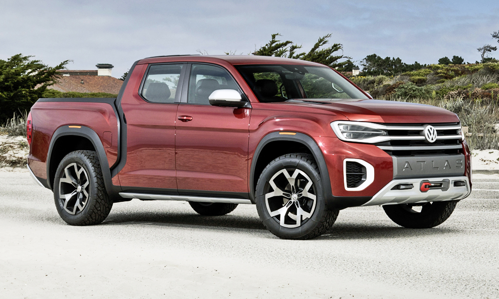 VW says a production version of the Atlas Tanoak concept may be on the cards.