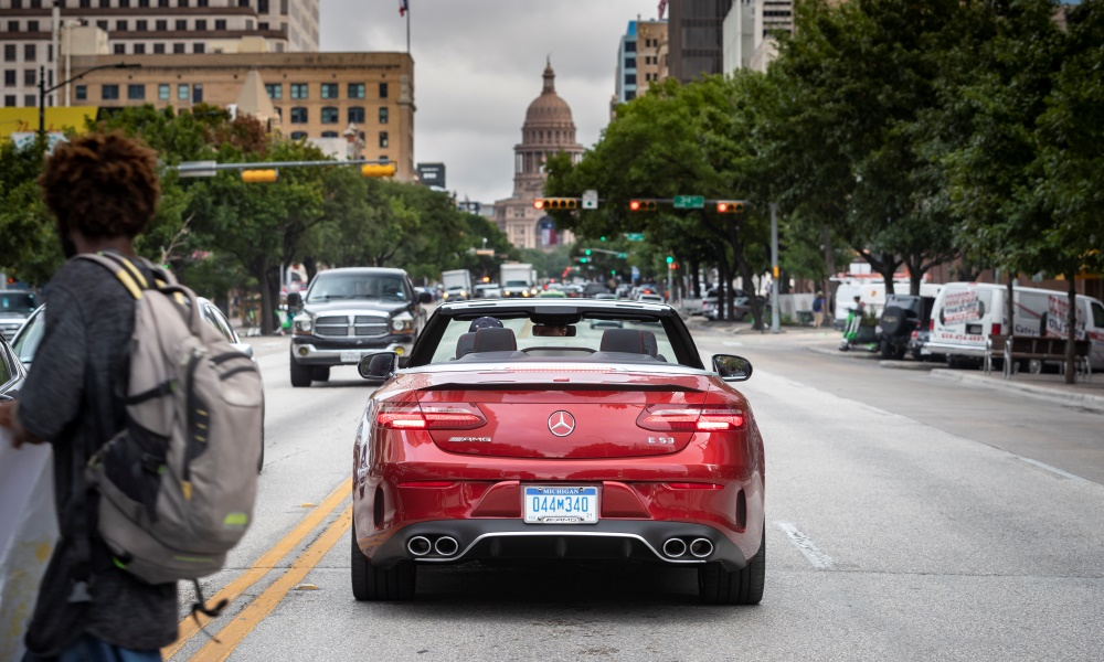 The Mercedes-AMG E53 in cabriolet form is a true head-turner.