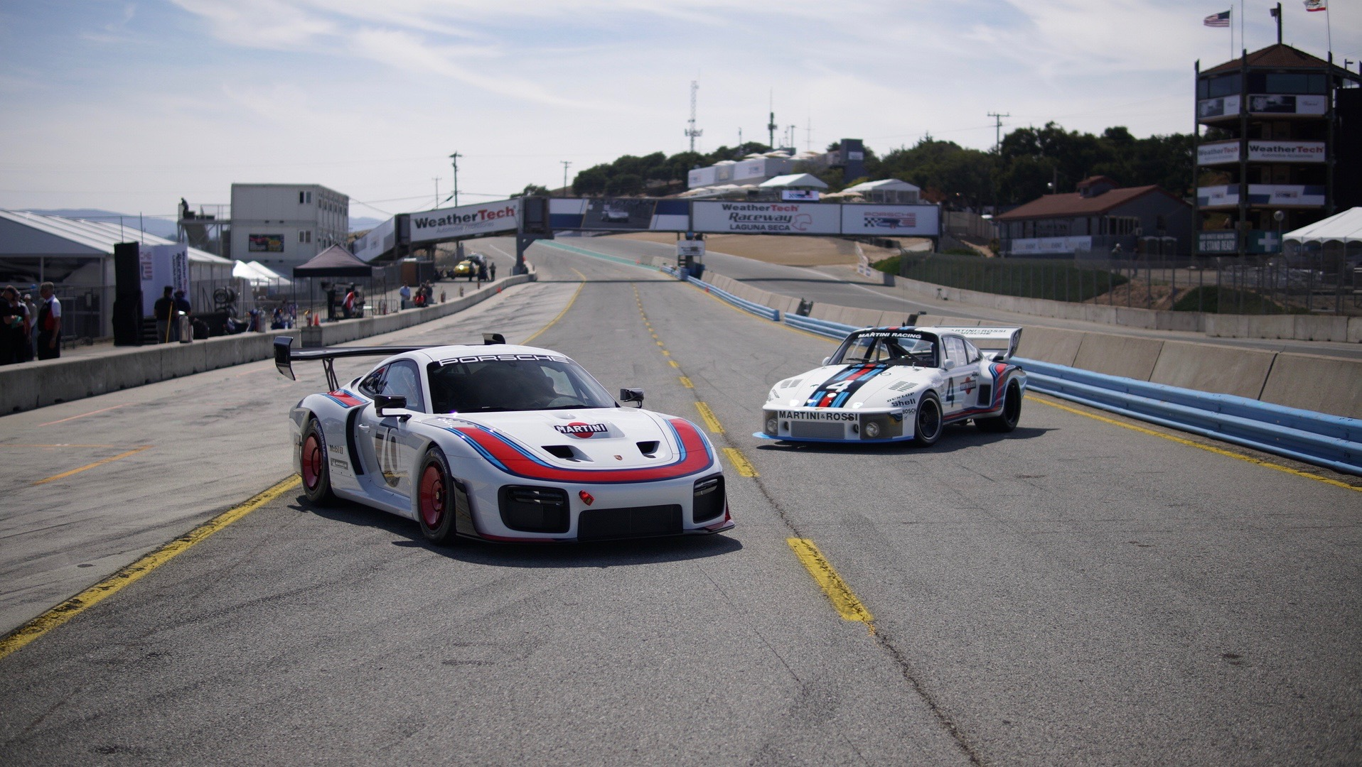 Revealed at Rennsport Reunion VI, the new 935, just like its forebear, sports the iconic Martini Racing colours.