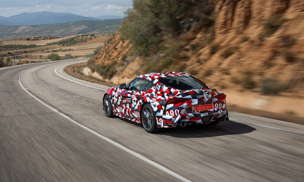 The Supra enjoys flowing roads at speed.