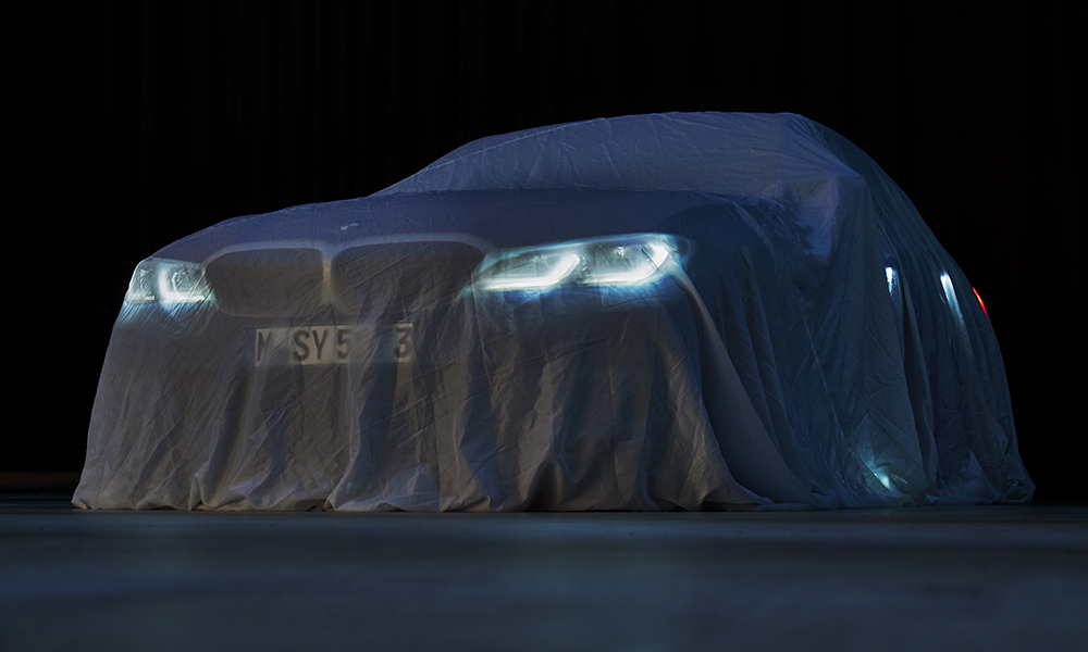 A fresh official teaser image of the BMW 3 Series.