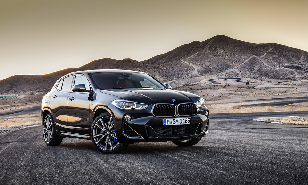 Meet the range-topping BMW X2 M35i, good for 225 kW and 450 N.m it utilises the firms most powerful turbocharged 2,0-litre 4-cylinder mill to date.