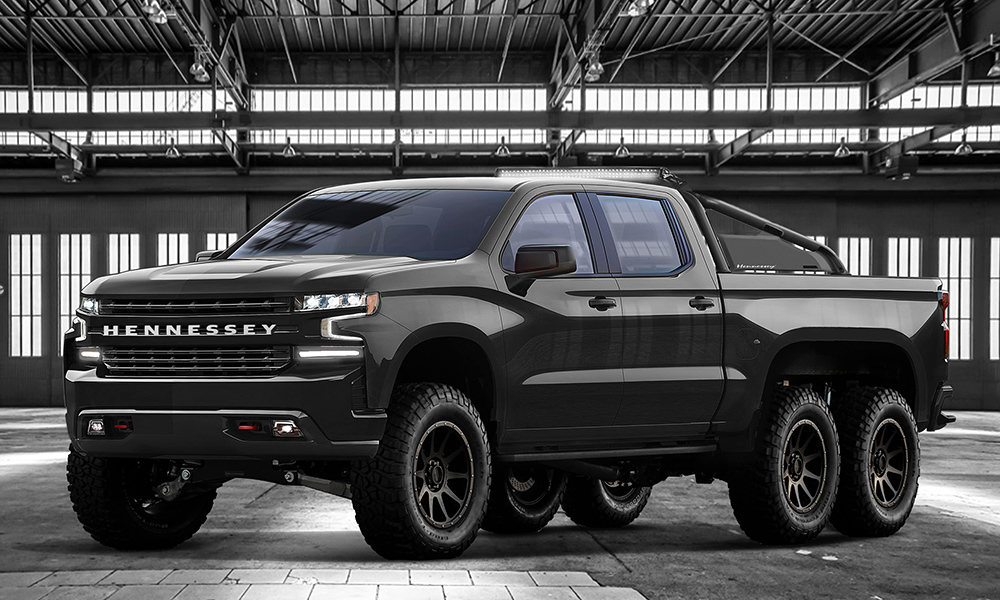 Based on the 2019 Chevrolet Silverado Trail Boss Z71 the Goliath 6x6 sees a supercharger added to the standard 6,2-litre V8.