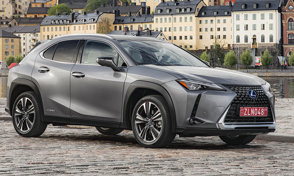 The new Lexus UX, here pictured in 250h F Sport form.