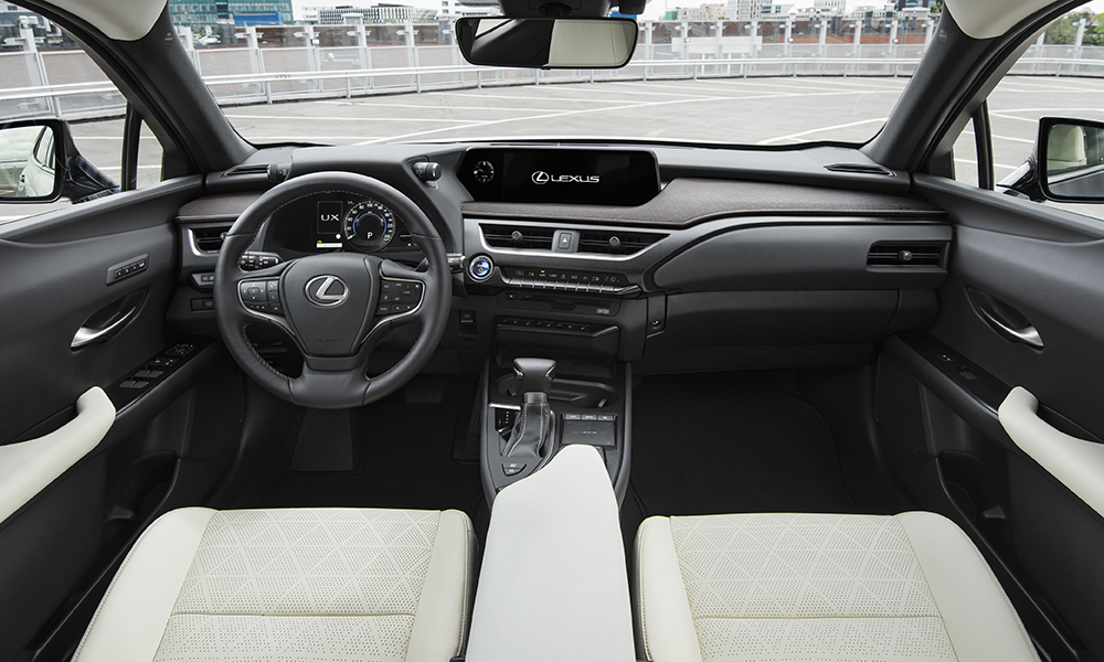 Traditionally superb Lexus materials and an excellent driving position.
