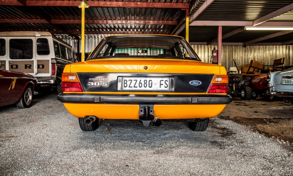 The rear of a 1979 Ford Cortina 3,0 S.