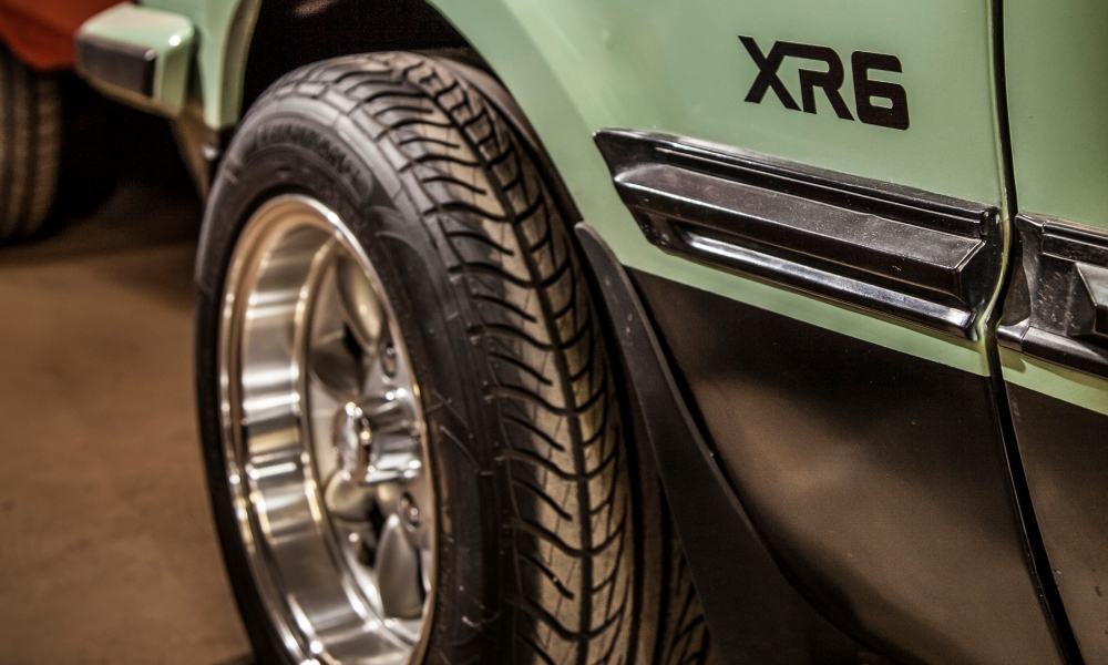 Detail on the 1982 Ford Corina XR6.