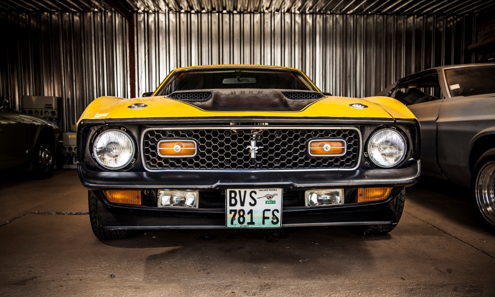 A 1972 Ford Mustang Mach 2 Fastback.