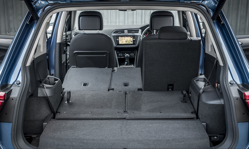 Copious amounts of space with four seats folded flat.