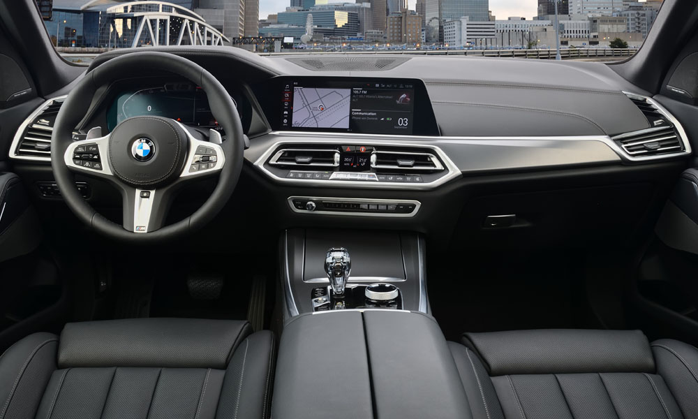 Classy cabin features BMW's latest operating system