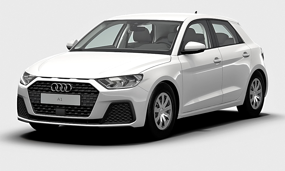 This is the new Audi A1 Sportback in base spec, as offered in Germany.