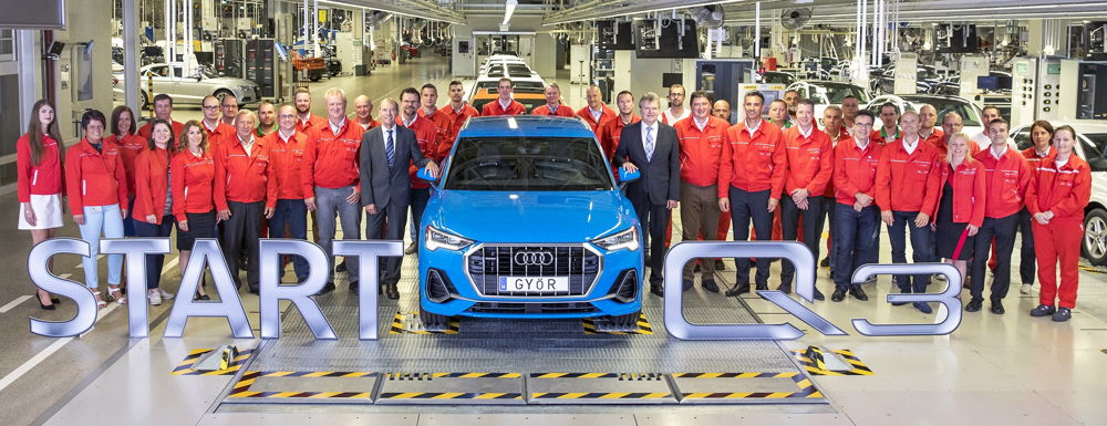 Audi Hungaria starts series production of the new Audi Q3
