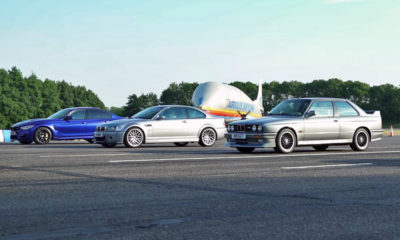 BMW M3 generations drag race