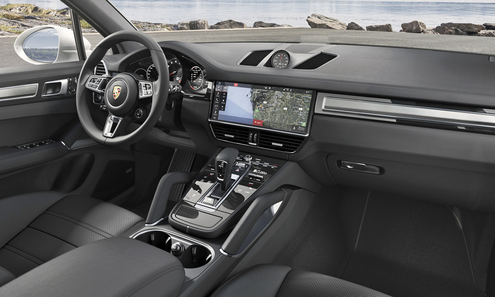 The cabin shares much with that of the new Panamera.