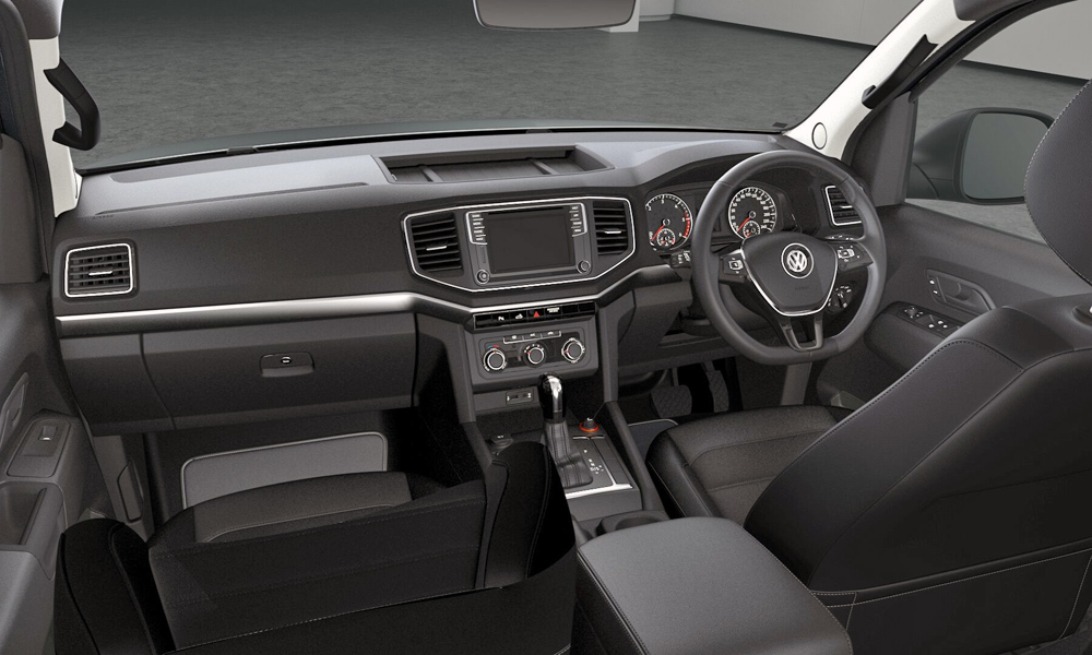 Partial leather and black floor mats are included inside.