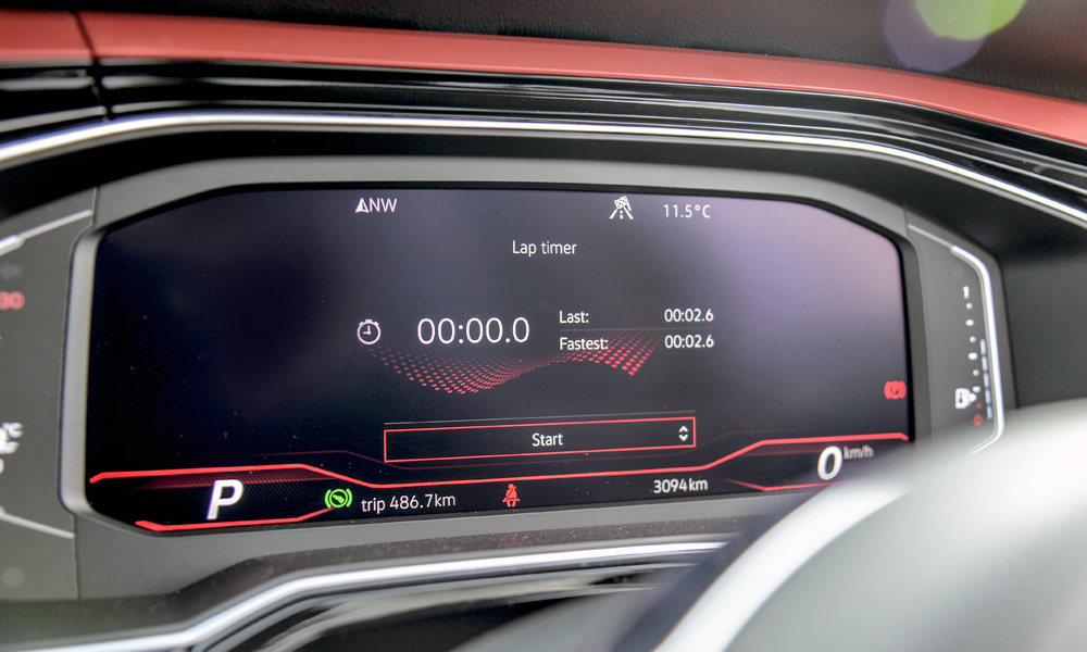 Optional Active Info Display includes a lap timer.