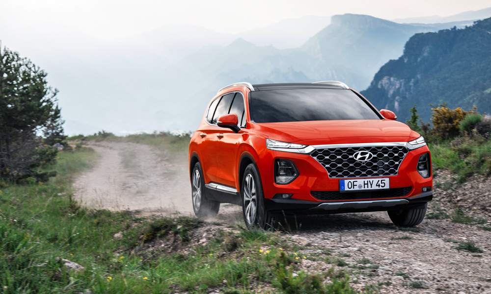 The new Santa Fe gains the brand's latest HTRAC system.