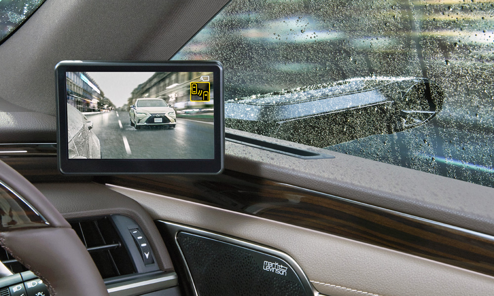 Lexus says its new digital exterior mirrors are a world first.