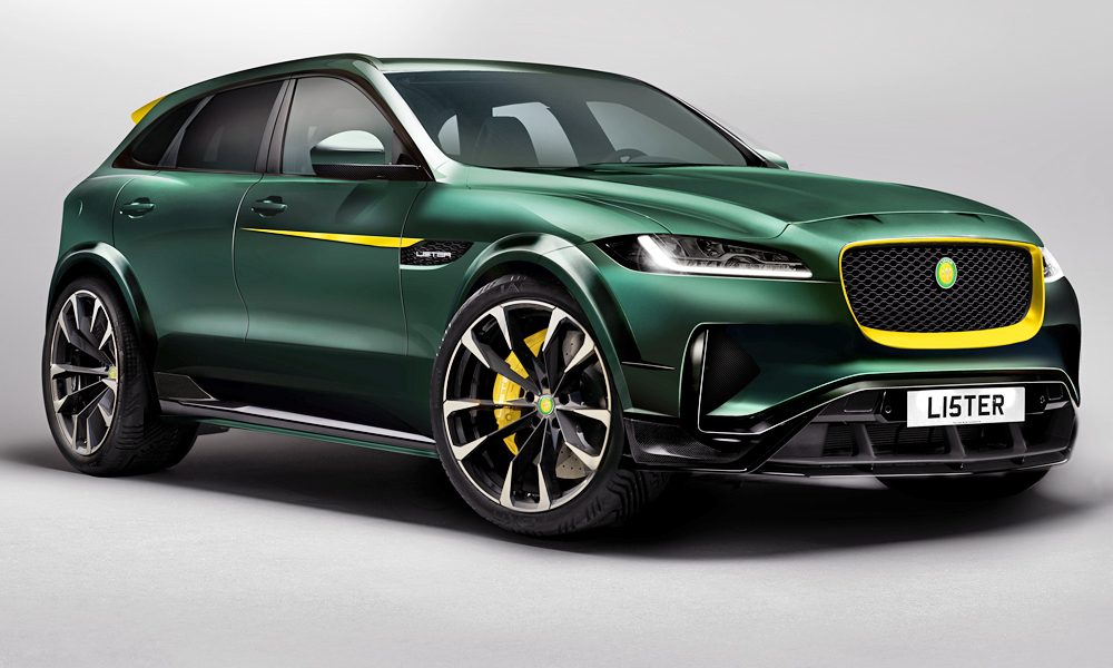 Lister has revealed images of its new F-Pace-based SUV.