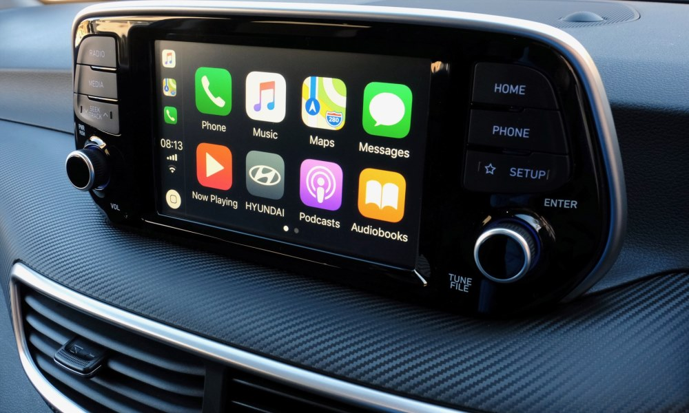 Infotainment now free-standing and offers Android Auto and Apple CarPlay.
