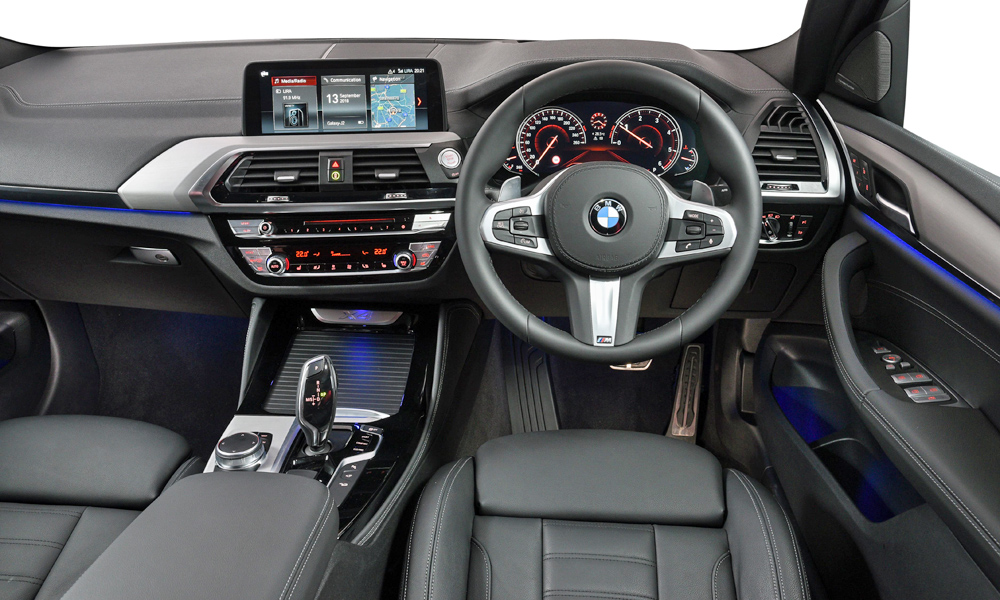 The X4's cabin shares much with that of the X3.