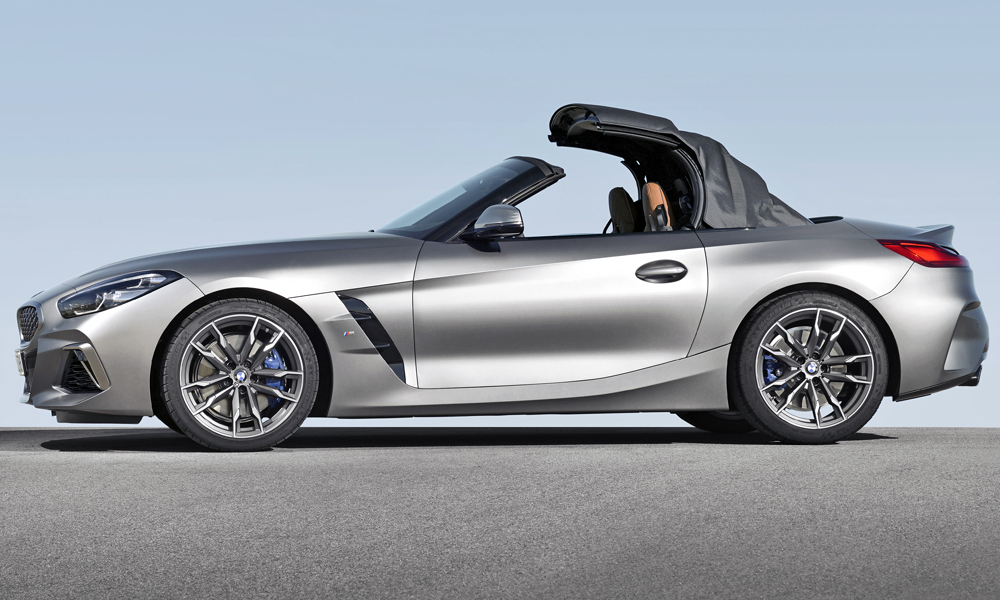 The soft-top takes 10 seconds to open or close.