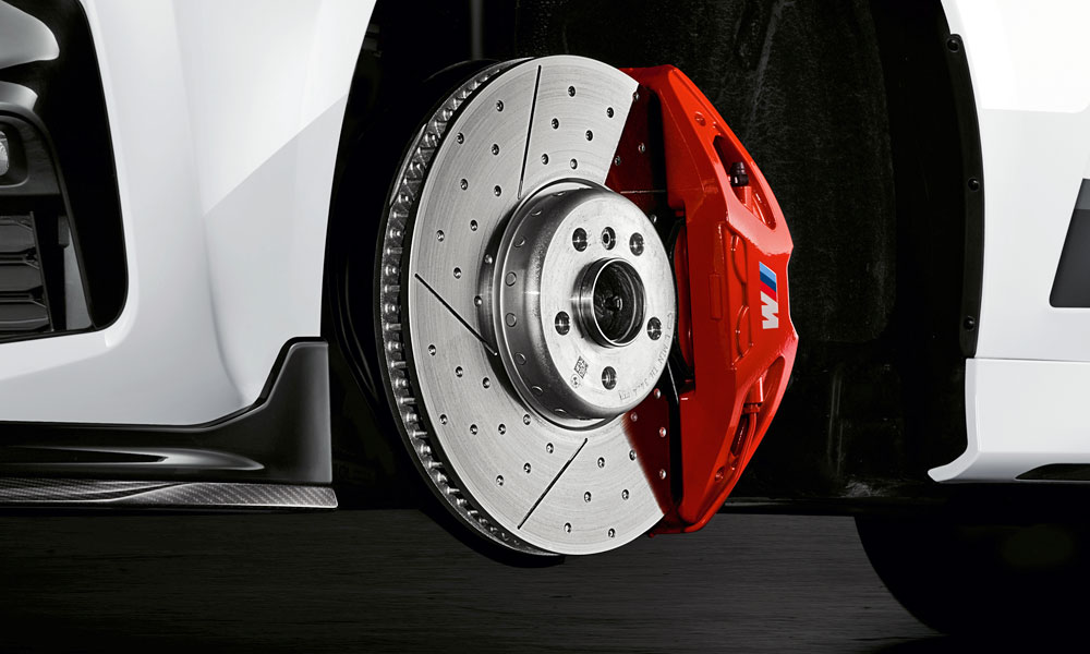 An uprated braking system with 18-inch discs and red callipers will be offered.
