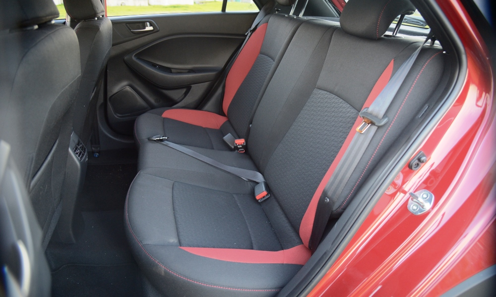 Interior space is some of the most generous in the small-hatch class.