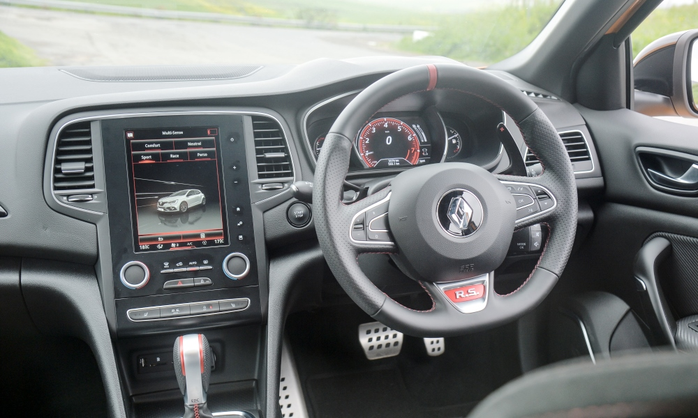 RS-specific infotainment screen can be slow to respond.