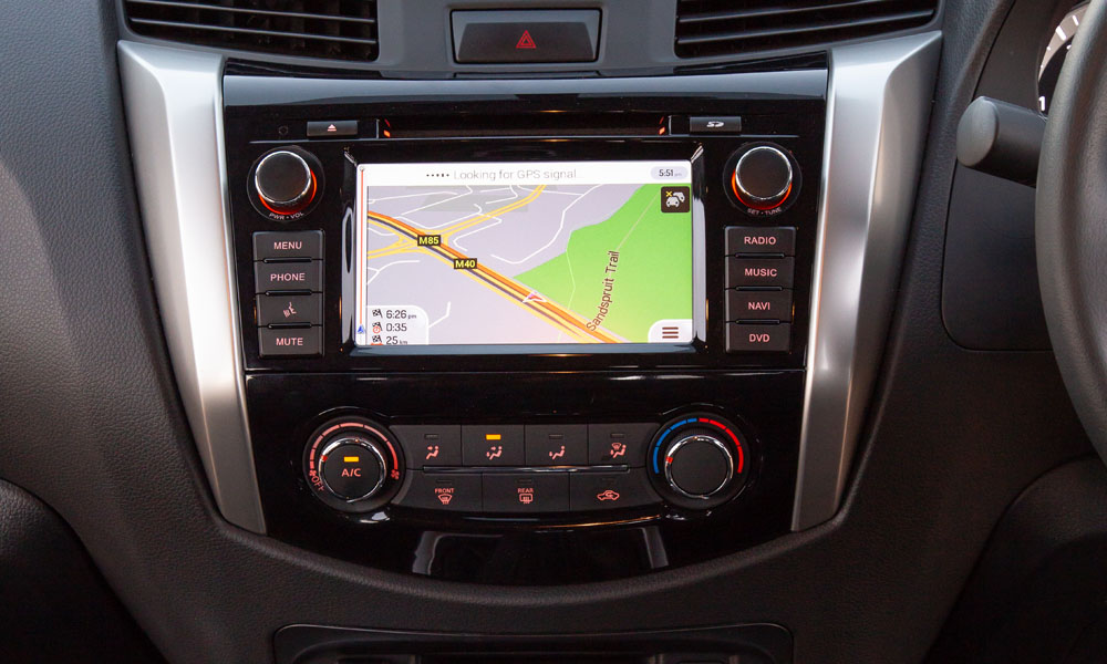 The infotainment system works fine, although the navigation isn't the best.